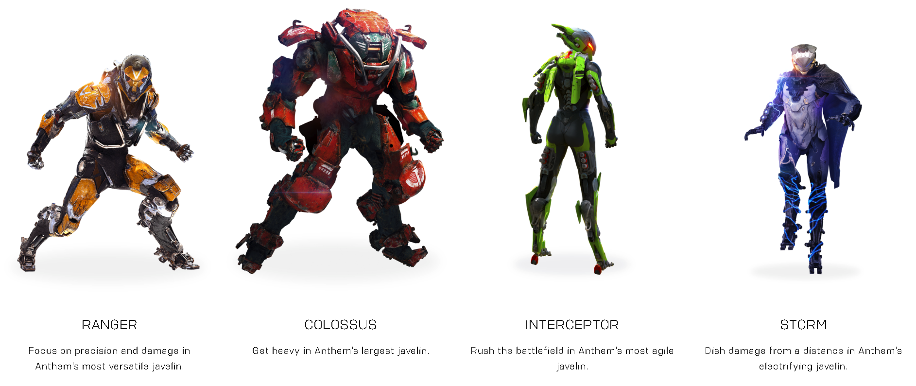 Anthem The Four Javelins Taw The Art Of Warfare Premier Online Gaming Community
