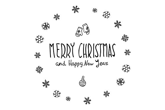 The Best Merry Christmas Happy New Year Calligraphy
